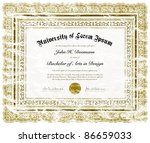 vector distressed diploma. easy ... | Shutterstock .eps vector #86659033
