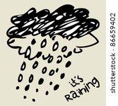 crazy doodle rain   Shutterstock .eps vector #86659402