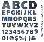 blue jeans alphabet and number... | Shutterstock . vector #86661352