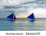 Sailboats Under The Stormy Sky...