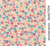 colorful seamless coffee pattern   Shutterstock .eps vector #86667934