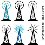 Vector Design Of Radio Tower...