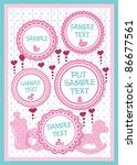 baby frame for text | Shutterstock .eps vector #86677561