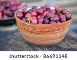 fresh cranberries in bowl. just ... | Shutterstock . vector #86691148