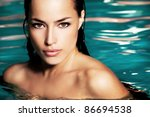 young woman beauty portrait in... | Shutterstock . vector #86694538