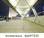 Elevated Walkway In Night