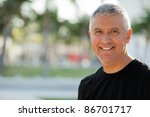 handsome unshaven middle age... | Shutterstock . vector #86701717