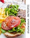 juicy steak beef meat with... | Shutterstock . vector #86701951