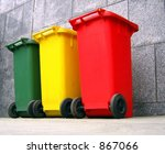 trash containers for garbage... | Shutterstock . vector #867066