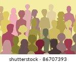 crowd | Shutterstock . vector #86707393
