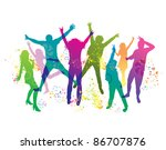 young people on the party . the ... | Shutterstock . vector #86707876