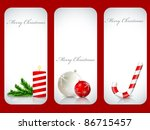 vector christmas backgrounds set | Shutterstock .eps vector #86715457
