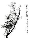 silhouette dead tree | Shutterstock . vector #86721076