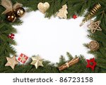 decorative christmas bordering... | Shutterstock . vector #86723158