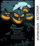 halloween series. halloween... | Shutterstock . vector #86725909