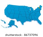 3d rendered map of usa | Shutterstock . vector #86737096