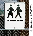 a sign posted on a chain link... | Shutterstock . vector #86748733