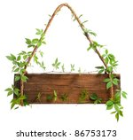Wooden Sign With Branches...
