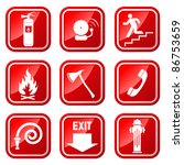fire signs  | Shutterstock .eps vector #86753659