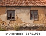 abandoned facade with wood... | Shutterstock . vector #86761996