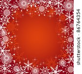 christmas background with... | Shutterstock . vector #86764354