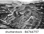 The Grand Canyon In Black And...