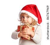 Baby Holding Christmas Gift....