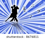 couple dancing a tango on a... | Shutterstock . vector #8676811