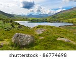 lake in snowdonia with views to ...
