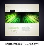 web site design template ... | Shutterstock .eps vector #86785594