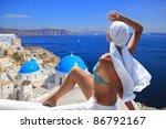 young woman enjoying the view... | Shutterstock . vector #86792167