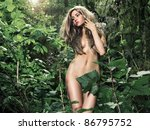 Portrait Of A Nude Elegant Lad...