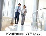 confident business partners... | Shutterstock . vector #86796412