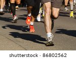 Feet Of Some Runners In A...