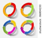 jpg  arrow circle circular cycle | Shutterstock . vector #86804233