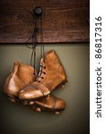 Vintage Golden Football Boots...