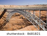 glen canyon dam bridge in... | Shutterstock . vector #8681821
