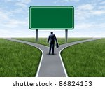 business decision with a... | Shutterstock . vector #86824153