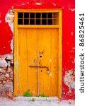 Wooden Yellow Beautiful Door In ...