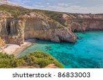 tsigrado beach  milos island ... | Shutterstock . vector #86833003
