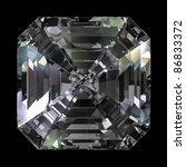 Asscher Cut Diamond Isolated O...