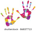 handprint. vector illustration | Shutterstock .eps vector #86837713
