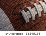 Closeup of American football. - stock photo
