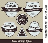 retro style badges | Shutterstock .eps vector #86845930