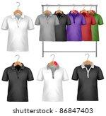 black and white t shirt design... | Shutterstock .eps vector #86847403