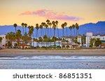 santa barbara from the pier | Shutterstock . vector #86851351