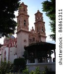 Santa Prisca church in Taxco, Mexico - stock photo
