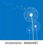 dandelion in the wind | Shutterstock .eps vector #86866882