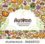 thanksgiving design  colorful...   Shutterstock .eps vector #86868532