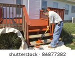 Contract Painter Staining Deck...